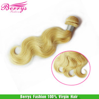 "Brazilian Remy  Hair Body Wave Blonde Hair 613 Color 3pcs/lot 10""-28"" Berrys Hair Products Cheap Price Human Hair Weave"