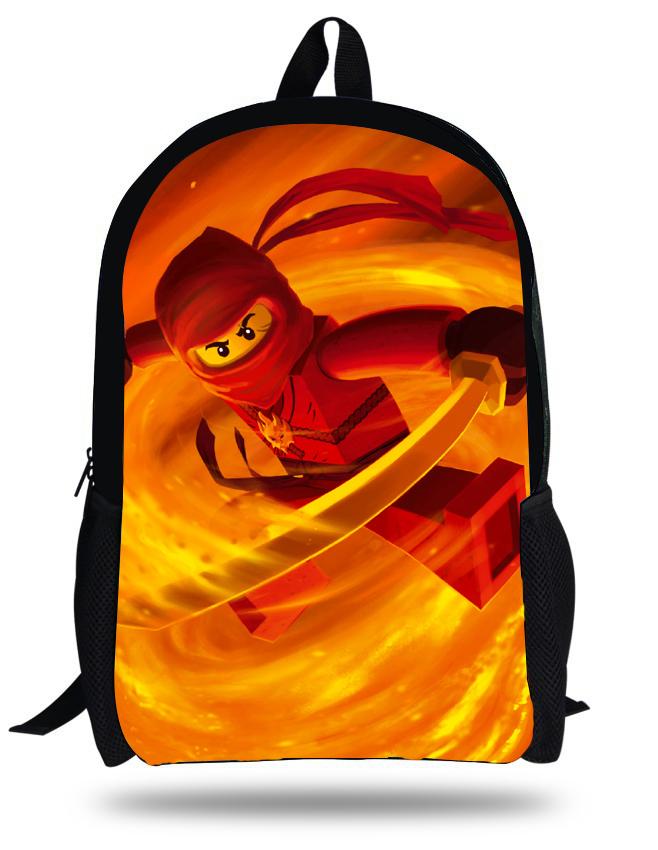 16-inch 2014 Mochila Infantil Menino 3D Printing Cartoon Ninjago Bag Children School Backpacks For Boys Gift Kids School Bags(China (Mainland))