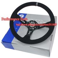 SPK Racing Steering Wheel 14 Inch Car Steering Wheel Suede Steering Wheel 350mm With Quite Nice Box