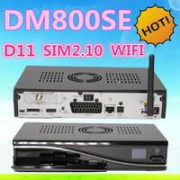 Dm800hd se wifi D11 Version dm 800se dvb-s tuner sim2.10 HD satellite receiver Enigma 2,Linux OS sunray dm800se 800hd se 2pcs