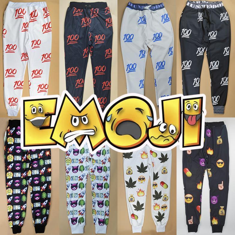 HOT EMOJI style print pants funny