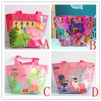 4 Style WaterProof Peppa Pig Small Handbag Pepa Pig Baby Mochila Kids Beach / Swimming / lunch Bag Best children's Gift