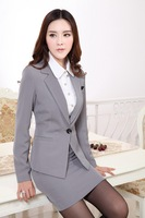 Womens Business Suits Formal Office Suits New 2015 Fashion Spring Autumn Winter Women Work Wear Female Blazer with Skirt suit