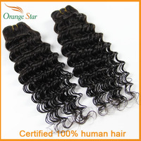 "Peruvian Virgin hair 1pcs lot Cheap Peruvian Deep Wave Human Hair Weaves 10""-26"" Soft Unprocessed Orange Star Tissage Hair AD112"
