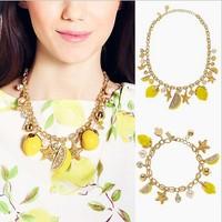 Free shipping Luxurious Women Bridal Jewelry Set Kate's a new spring enamel glaze Crystal pearl pendant set Bracelet Necklace