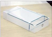 XL/XXL Transparent PP Plastic slipper Boots Shoe box foldaway Storage boxes Boots Box