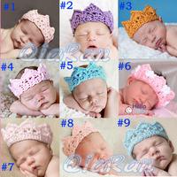 2014 Promotion NEW Crown Style Baby Headband Handmade Crochet Newborn Photography Props Infant Headwear HB011