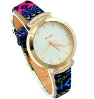 6 colors Fashion Brand GEANEL Relogios Rhinestone Quartz Watch Women New Dress Clock fashion Leather Women Watches Wristwatches
