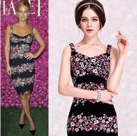 New 2014 Winter Autumn Runway Retro Vintage Print Madi Evening for Women a+ dress Women Casual Dress
