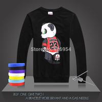 2014 New JORDAN #23 Basketball Supper Star Chicago Tops Clothing Cotton Giant Panda Printed Men Training Long-sleeved Tops