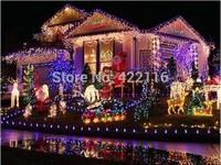 Christmas lights 50M 400 SMDs LED String Strip Garlands EU/UK/US/AU plug Fairy Light Landscape Wedding Party Garden decoracao