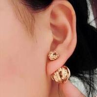 Metal wire coil size bubbles pearl earrings TT581 B5