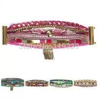 KB46 New Summer Beach HIPANEM Bracelets & Bangles 2014 Fashion Brand Brazilian Bohemia Handmade Magnetic Cuff Jewelry Layer Item