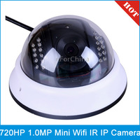 IPCC-H04 H.264 720P Mini Indoor IP Dome Camera with Built-in Wireless Wifi