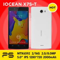 "5.0"" iOCEAN X7S-T X7S X7  2G RAM16G ROM IPS 1280*720 2.0/8.0MP Cam Android 4.4 2000mAh MTK6592 Octa Core WCMA Phone"