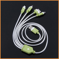 Free shipping New LED Light Micro USB 3.0 Sync Charger Cable for Samsung Galaxy Note3 N9000 S5 i9600 G900 For iphone 4 4S 5 5S