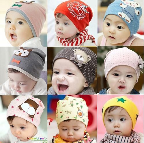 kids infant boy girl baby hat caps toddler beanies cotton bonnet children accessories(China (Mainland))
