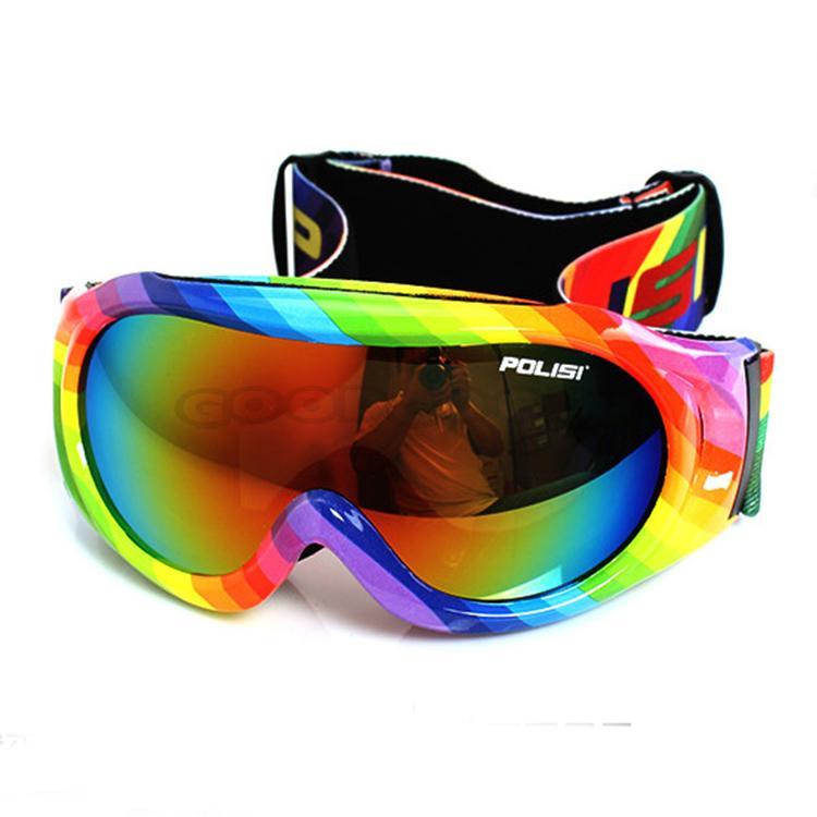 Free Shipping! POLISI Children Winter Snow Sports Protective Glasses Cycling Ski Goggles Snowboard Sled Skate Anti-Fog Eyewear(China (Mainland))