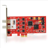TBS6285 DVB-T2 Quad Tuner TV Card PCIe Interface for Watching UK Freeview SD and HD Channels on your PC