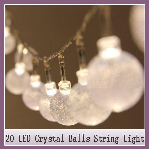 1x Christmas LED string light 2M 20 leds crystal balls Waterproof lamp Strip bulb outdoor Bulb home Christmas Wedding decoration(China (Mainland))