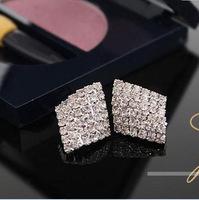 Mini Order $8.8(Mix Orders) Hot Selling Star Favourite Full of Luxury Rhinestones Fashion Elegant Lady Earring FE0168