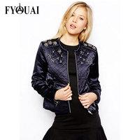 FYOUAI Winter Coat Women 2014 Fashion Slim Paillette Cotton Casual shot design Outdoor Coat