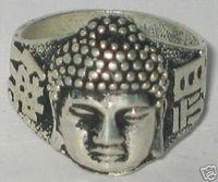 Rare Vintage Beautiful Ethnic&Tribal Tibet silver buddha ring Free Shipping / Free Shiping