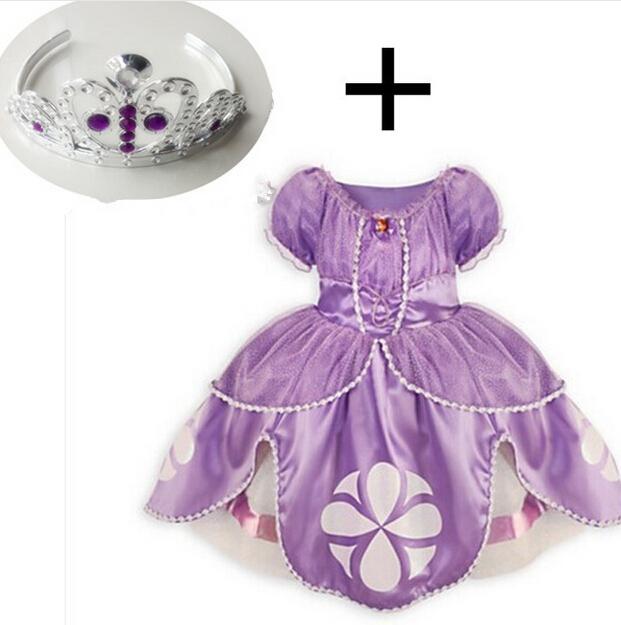 2015 princess sofia dress baby girl princesa sophia costume for party