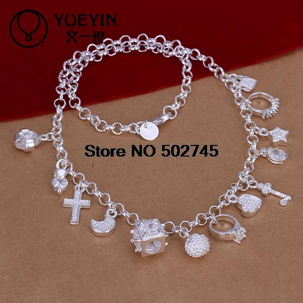 2015 new arrived 925 sterling silver necklace luckly 13 charmming pendant Necklace for women fine jewlery