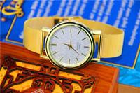 Fashion Golden Watches Stainless Steel Watch Women Dress  wristwatches Fashion Watch Golden Quartz watches women