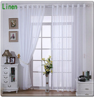 New Arrival Linen Tulle Curtains For  Home White  Sheer/ Voile Curtains Free shipping