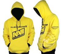 free shipping Natus Vincere NAVI Cosplay Top Grade Yellow Hoodie Coat Sweater Outwear Hoodies & Sweatshirts