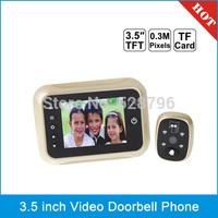 3.5 inch Screen Smart Peephole Viewer / Visual Doorbell, 0.3 Mega Pixels Camera, Support TF Card & Night Vision