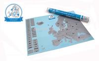 Free Shipping 1Piece European Scratch Map / Scratch Map Europe Edition 55 x 43cm