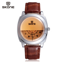 Watch Man leather Band luxury brand Men watches fashion casual quatz Watch dial vogue Wristwatches Relogios g