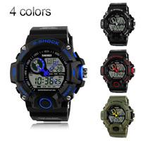 Digital Watch Men Outdoor Sport Military Dive relogio masculinos LED Men's Quartz Watch  relojes 2 Time Zone Men  Wristwatches