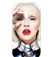 new cartoon hot Christina Aguilera hard white case cover for Motorola Moto G 1pcs/lots + free shipping