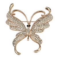 Lifelike Insect Crystal Rhinestone Butterfly Brooch
