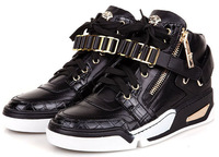 Best Selling Brand Men Genuine Leather Sneakers Sequined Ankle Winter Fashion Casual Flats Shoes EU39~46