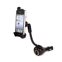 2014 Car Mount Stand Holder Cigarette Lighter Dual USB Charger for Cubot HTC ONE Sony #64822