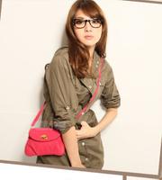 Korean Style 2014 New Dumpling Women Messenger Bags Pure Colour College Latch Small Shoulder Bags Women Bags Free Shipping H915