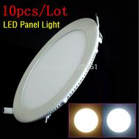 10pcs/lot 25W LED Round Panel lighting ceiling light Downlight AC85-265V  Warm /Cool white,indoor lighting
