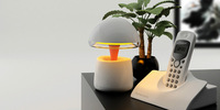 2014 new product most creative Bluetooth Speaker bedside table lamps with LED light, wireless control, Free Shipping