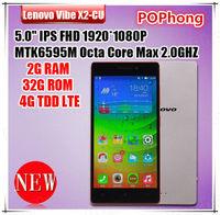 Original Lenovo Vibe X2-CU 4G LTE MTK6595M Ture Octa Core Cell Phones 5.0'' FHD IPS 2G RAM 32G ROM Rear 13.0MP Dual Camera