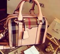 FREE SHIPPING 2014 Boston WOMEN handbag canvas plaid tote Bags mini plaid Pillow BAG
