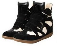 Hot SaleLeather PU Height Increasing 6cm Women's Shoes EU 36~39  Autumn Fashion Wedge Sneakers CX871275