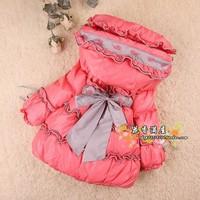 winter girls down coat girl jacket Hot-selling thickening female child medium-long children 80%down Free shipping