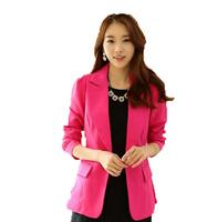 Free Shipping!  Women Korean Fashion Long Casual 2014 Suit Jacket,Female Slim OL Large size Former Casual Blazer M L XL XXL XXXL