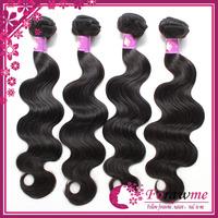 Mongolian 100% virgin hair body wave 4 bundles lot 1b black human hair weft Top grade unprocessed Forawme hair extensions