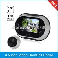 3.5 inch Digital Video DoorBell Phone Peephole Viewer, 0.3 Mega Pixels Camera, View Angle: 170 Degree